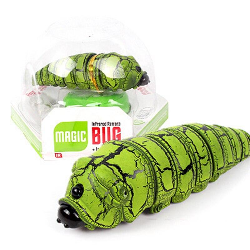 Αστεία δώρο τέχνασμα RC Έντομα Παιχνίδια Ηλεκτρική φάρσα Ψεύτικο Caterpillar RC Ζώα Trick Toys Ψεύτικη φρίκη φάρσα Ζώα Παιχνίδια Γενέθλια Δώρο