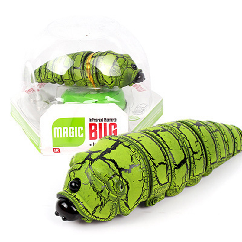 Funny Gift Trick RC Insects Toys Electric Prank Fake Caterpillar RC Animal Trick Toys Fake Horror Prank Animal Toy Birthday Gift