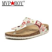 MVP BOY 18 color big size 35-44 New Beach Cork Flip Flops Slippers Casual Summer women beach slippers