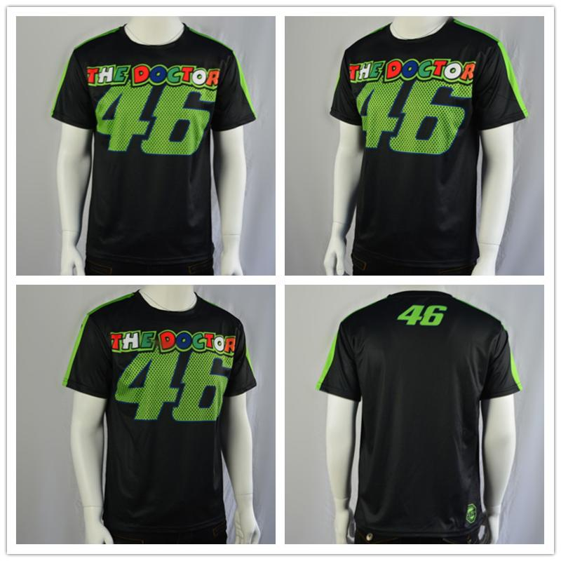 Motorcycle Quickly Dry T shirt Valentino Rossi VR46 The Doctor MOTO GP Racing T-Shirt MENS Motor Sport motorbike Racing T-shirt