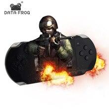 Данных лягушка 32 бит HD ручной игровой консоли MP5 ЖК-дисплей видео игры с 566 классические игры Портативный консолей Поддержка карты памяти
