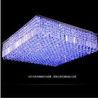 L Rectangular crystal lamp living room color LED crystal lamp restaurant K9 ceiling crystal lamp
