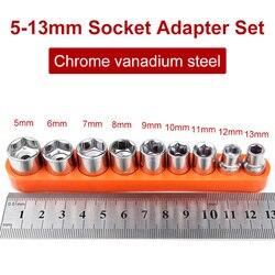 1 pcs 5-13mm Soquete Adaptador Universal Conjunto Chave Sextavada Cabeça Início Auto Car Bicicleta Para Casa DIY fix Repair Tool Mão bits