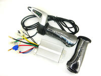 24V LED POWER DISPLAY THROTTLE GRIPS 250w Controller Box Fit For Electric BicycleE Bike E Motorcycle