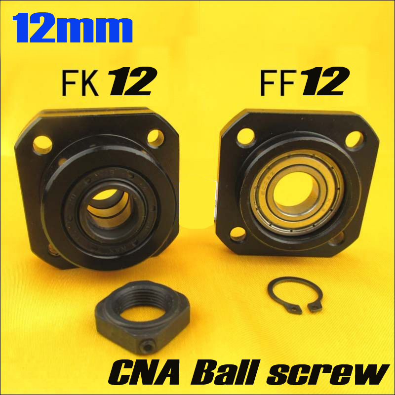 FK12 FF12 Support for 1605 1604 1610 set :1 pc FK12 Fixed Side +1 pc FF12 Floated Side CNC parts Woodworking Machinery Parts 1set fixed side fk12 floated side ff12 ball screw end supports