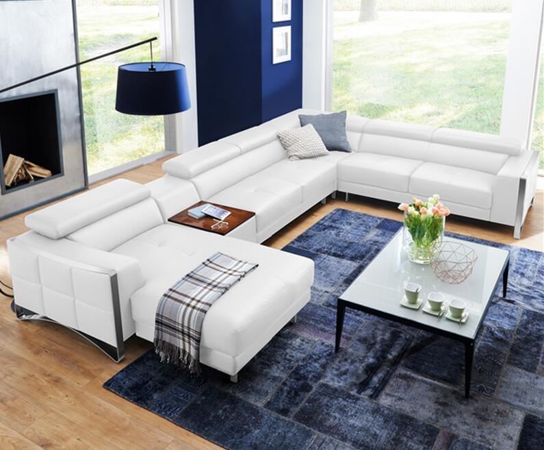 divano ad angolo in pelle-acquista a poco prezzo divano ad angolo ... - Divano Set Piccolo Angolo