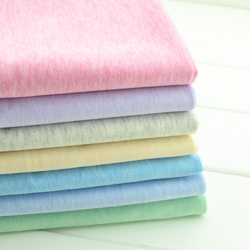 Tecidos Patchwork Shipping 40 S New Colored The Modal Knitted Fabric Cotton Summer Cool Breathable Sweat Cloth Stretch Lycra