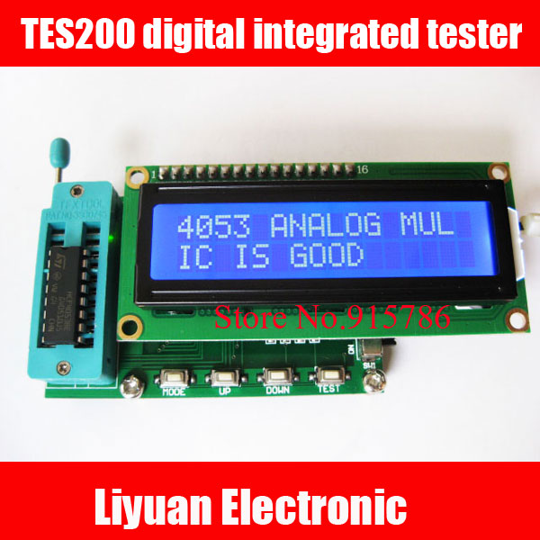 TES200 Digital Integrated Tester / 7 ~ 12VDC IC Tester / 1602LCD Display IC Tester For Logic Gates Good Or Bad