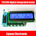 TES200 integrados digitais tester/7 ~ 12VDC IC tester/1602LCD exibição IC tester para portas lógicas bom ou ruim