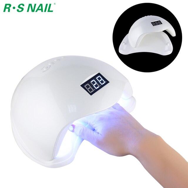 RS ногтей SUN5 48 Вт УФ светодиодная лампа Сушилка для ногтей Гель-лак отверждения машина с нижним низкая/тепло модель ЕС Plug Стандартный