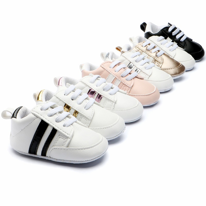 New Infant Anti-slip PU Leather Romirus Baby Moccasins First Walker Soft Soled Newborn 0-2 Years Sneakers Branded Baby Shoes