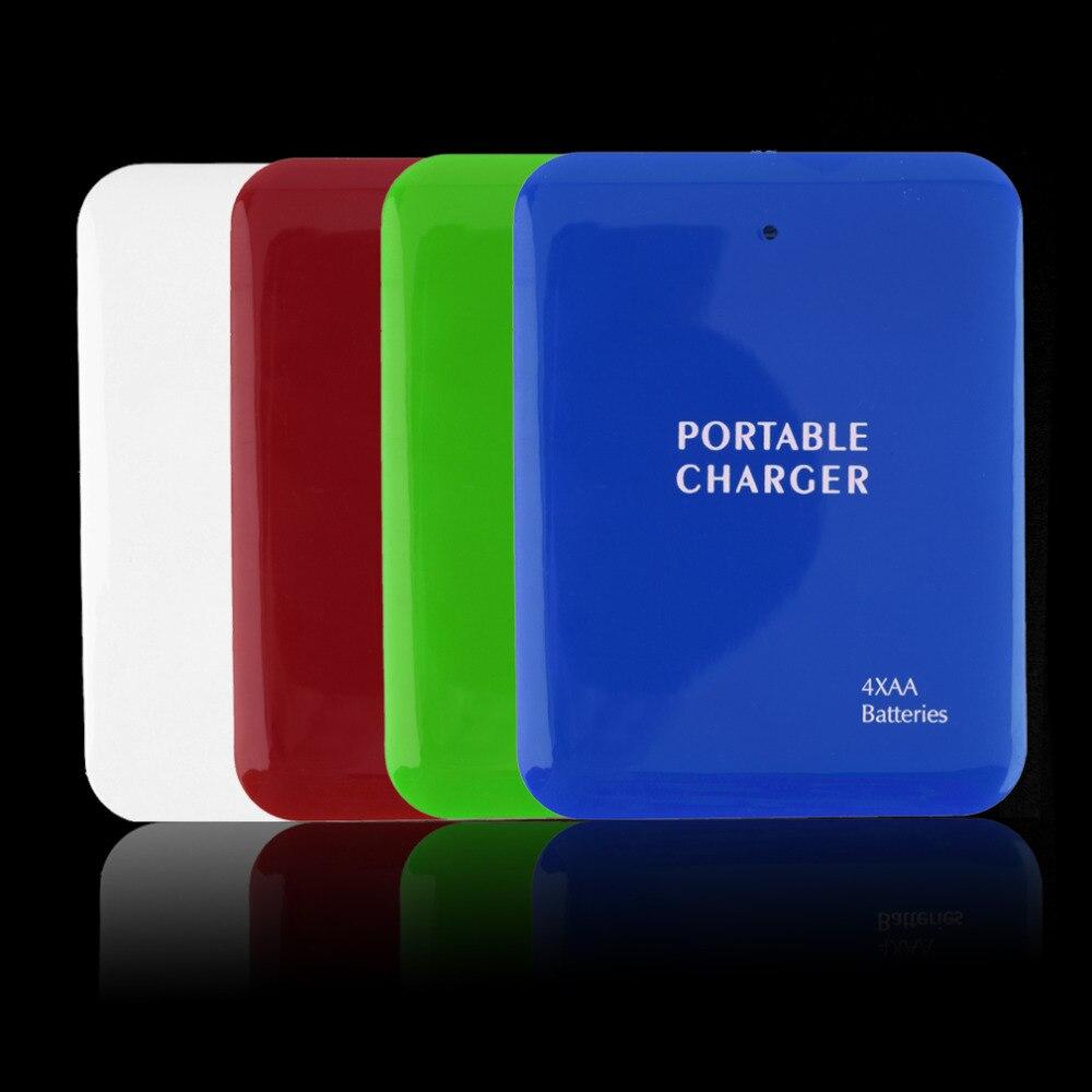 Nueva batería 4aa cargador de viaje de emergencia portátil usb power bank case p