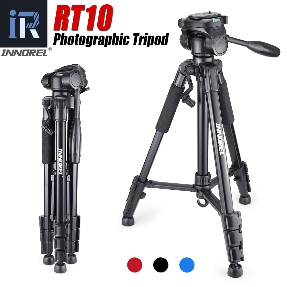 Alumínio Mini Tripé Portátil para câmera Digital DSLR Mirrorless RT10 Q111 mais barato do que a luz de viagem compacto stand Pan cabeça