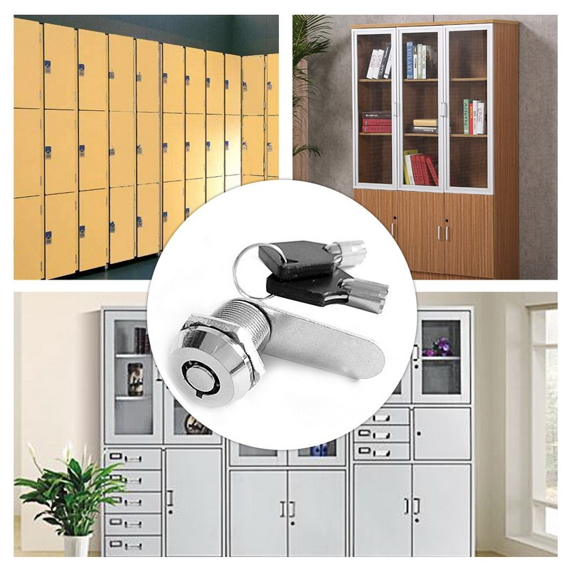 3Pcs Cam Lock Cabinet Drawer Cupboard Wardrobe Locker Mailbox Latch Kid Safe