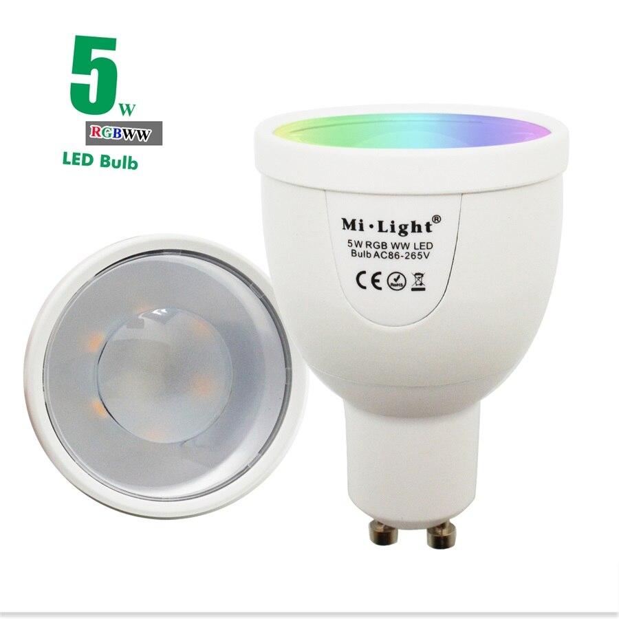 5W RGBWW GU10F