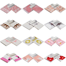 50/100PCS Plastic Christmas Gift Bag Transparent Cartoon Printing OPP Birthday Party Wedding Favors Cookie Candy Packaging Bags