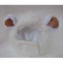 85d902e20a8 Hat For Dogs Cats Emulation Lion Hair Mane Ears Head Cap Autumn Winter  Dress Up