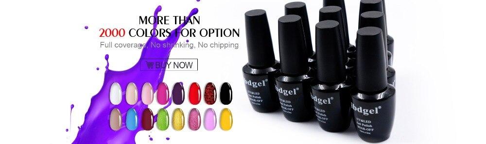 Ibdgel 6 шт полупрозрачные Глазурь УФ гель лак для ногтей 12