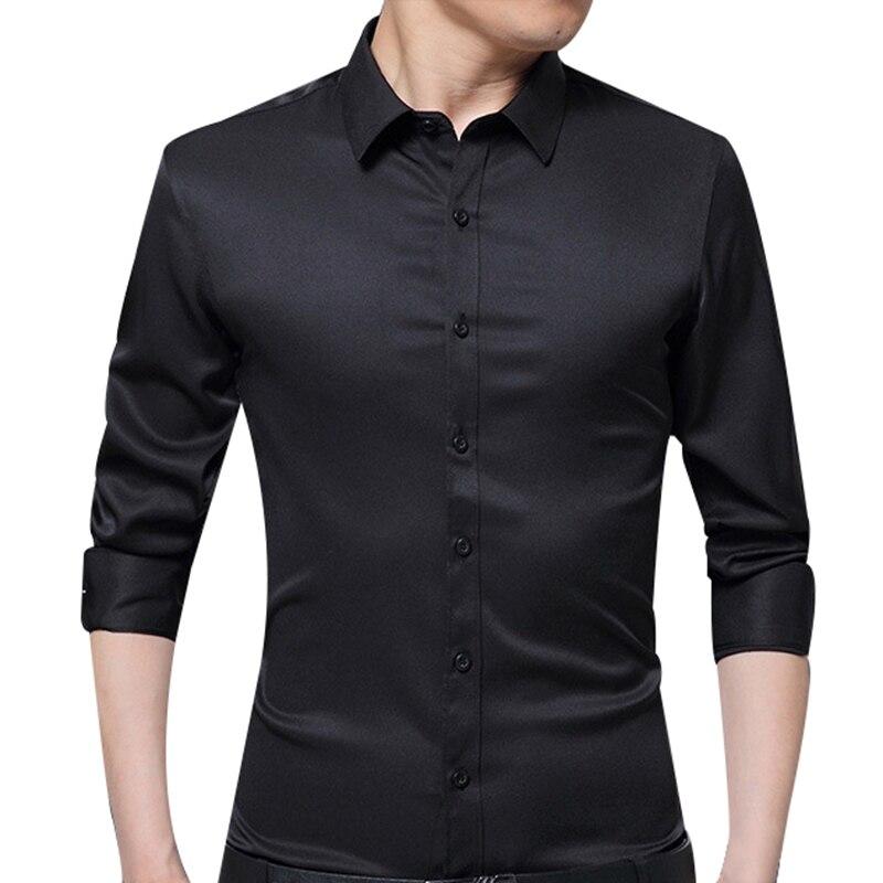 Men Big Boy Cotton Blend Smart Casual Regular Sleeve Turn Down Collar Shirt
