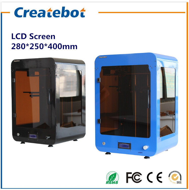 2015 Hot Selling Huge Build Size 280*250*400 Createbot Max 3D Printer kit Heatbed and with 1 Filament as Gift