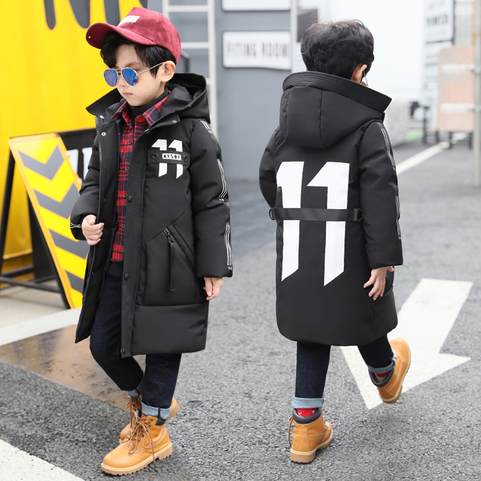 2018 Children's Winter Jackets for Boys Snowsuit Coat Kids Windbreaker Parka Big Boys Warm Thick Coat Zip Teenager Baby Outwear high quality new winter jacket parka women winter coat women warm outwear thick cotton padded short jackets coat plus size 5l41