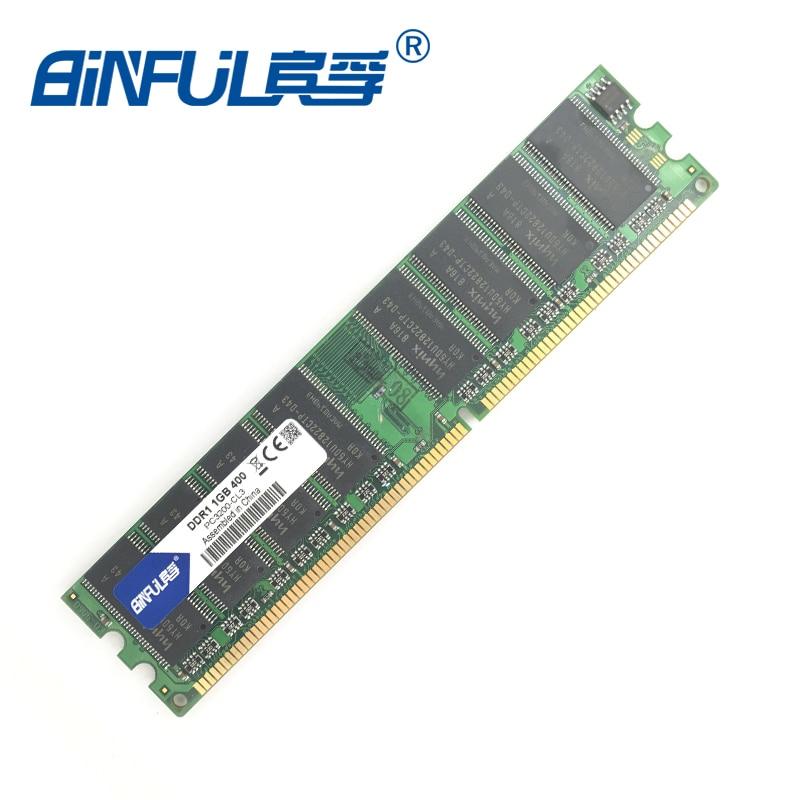 Binful original Brand New DDR 1GB 400mhz PC-3200 Desktop RAM Memory binful 100