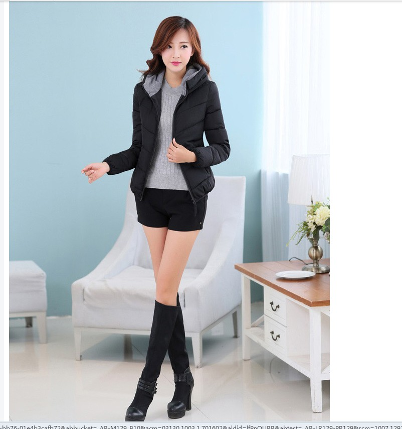 2016 Latest Winter Ffashion Women down jacket Thickening Super warm Long sleeve Coat Pure color Slim Big yards Cotton Coat SJ717