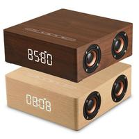 Surround Sound Subwoofer Home Mobile Phone Computer Soundbar Q5C Alarm Clock Version Wooden Loudspeakers HIFI Stereo Bass