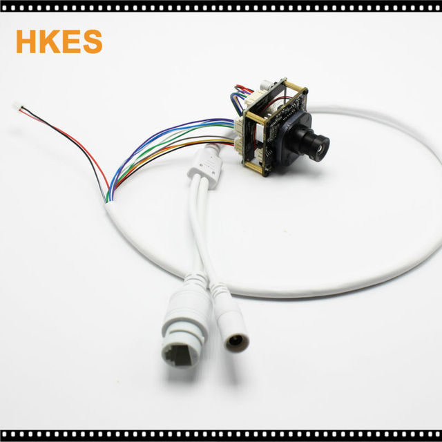 HKES 2.8mm High Resolution 1920*1080P 720P 960P HD POE IP camera module board with LAN cable