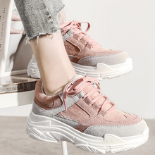 HEE GRAND New Spring Sneakers Women Platform Flats Lace Up Round Toe Solid Creepers Female Casual Fashion Comfort Shoes XWD7218