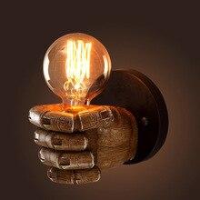 hot deal buy tuda 2017 wall lamps decoration creative bedroom wall lamp wall lamp cafe restaurant bar fist resin restoring ancient ways