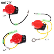 OOTDTY High Quality Metal Switch Engine Power Stop On Off Kill Switch Control For Honda GX110 GX120 GX160 GX200 GX240 starter motor solenoid ignition stop switch box key kit fit honda gx160 gx200 chinese 168f 170f 2kw 3kw 5 5hp 6 5hp gas engine