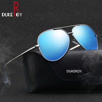 DUKEROY Top Quality Sunglasses Men Polarized Brand Designer 2017 Fashion Aviator Driving Sun Glasses Men S