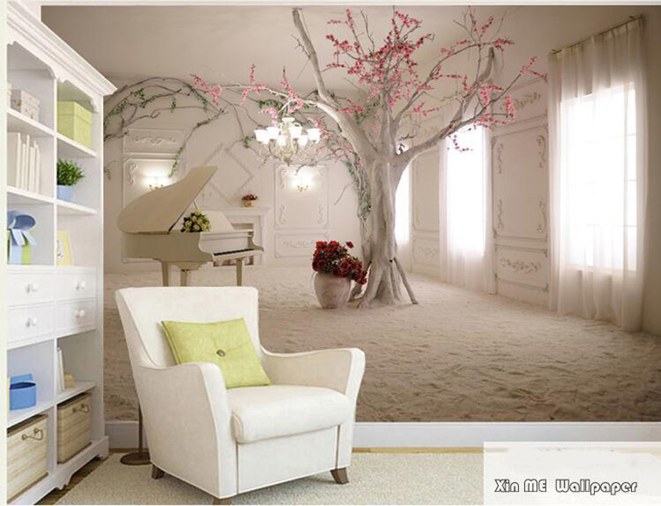 ShineHome-Tree Piano Large Custom Space Photo Walllpapers 3d Modern Living Room Wall Murals Conference Wahable Wallpaper Desktop