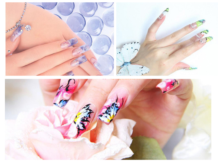 60pcs/pack Professional 4 Design Nail Form Tips Nail Art Guide Form ...
