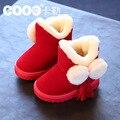 Новый 2016 зима ребенок снега сапоги дети сгущает теплый утолщение ребенка нескользящей детская одежда обувь
