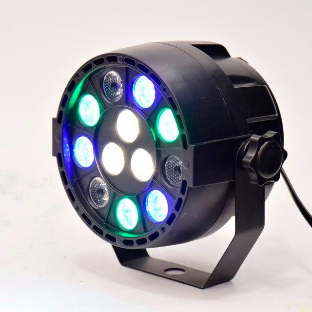 Flat 12 Led Par Stage Light RGB 1W Disco Party Lights Laser Dmx Luz DJ Effect Controller Dj Equipment Projector Luces Discoteca