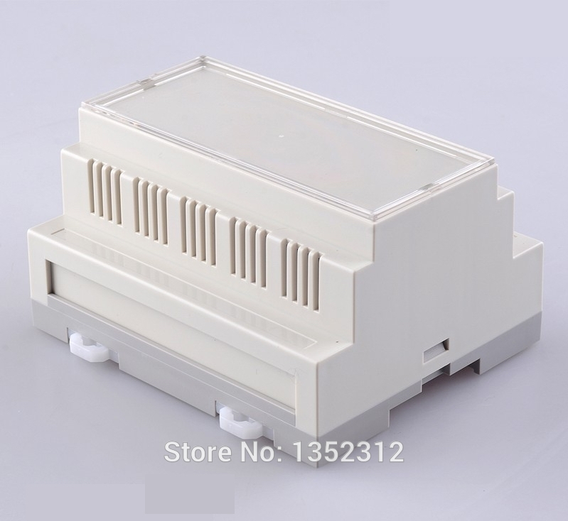 106*87*60mm 10 pcs/lot plastic din rail cabinet electronic enclosure PLC switch control box abs IP54 waterproof DIY din rail box image
