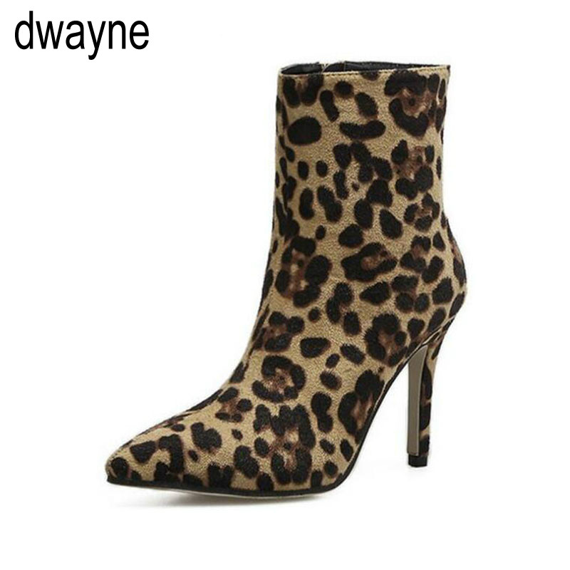 2019 Women Ankle Boots Sexy Booties high heels Pointed Toe Zipper leopard half short Martin Shoes botas Female stiletto fgb72019 Women Ankle Boots Sexy Booties high heels Pointed Toe Zipper leopard half short Martin Shoes botas Female stiletto fgb7