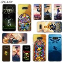 BINFUL case cover hard Transparent for Samsung S9 S8 S7 S6 S5 S4 S10 Edge Plus Mini Galaxy Note 9 8 5 4 Legend of Zelda