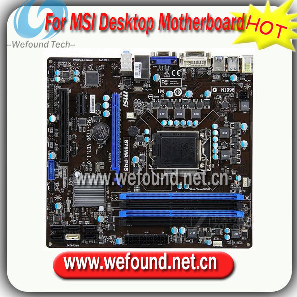 100% de trabalho desktop motherboard para msi b75ma-p45 b75 lga 1155 ddr3 placas de apoio 22nm funcionar perfeitamente