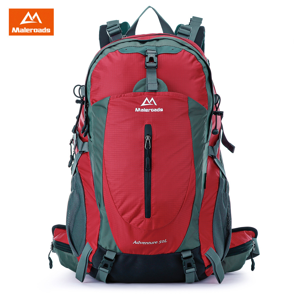 MALEROADS 50L Waterproof Outdoor Bags Backpakc Hiking Camping Bag Backpack Large Sports Bag Nylon Climbing Bags Travel Rucksack free knight hiking backpack 50l waterproof sports bag multifunctional outdoor bags camping hunting travel treck mochila backpack