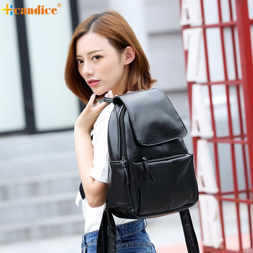 Naivety New Girl PU Leather Shoulder Bag Women Fashion Backpack Cool Travel Satchel Mochila 20S70113 drop shipping naivety new fashion women tassel clutch purse bag pu leather handbag evening party satchel s61222 drop shipping