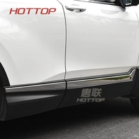 FIT For Honda CRV 2017 2018 CR V Stainless Steel Body Side Molding Trim Overlay Accessories Car styling