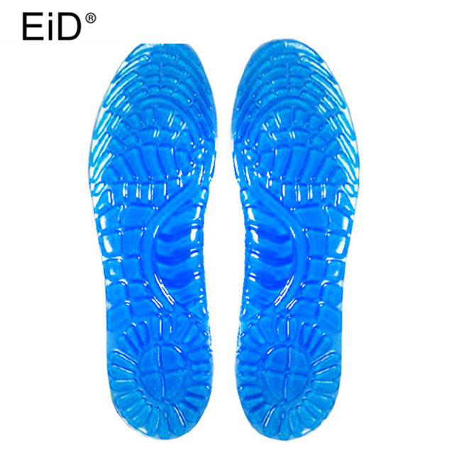 EID Soft Shock Absorption Cushion Running Walking Comfortable massage pad Silicone massage insoles for Shoes Woman Men