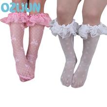 Socks Large Summer Lace Girls Princess Kids Children Mesh Mosquito Leg-Warmers Yarn No-Heel