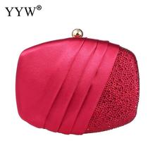 YYW Pink Women Handbag Purse Wedding Clutch Bag Evening Party Bags Clutches Prom Banquet Small Sac Main Femme 2019 New