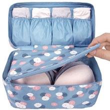 JPZYLFKZL Waterproof Women Portable Travel underwear pocket bag  Sorting Kit Organizer Bag Make Up Cosmetic Storage