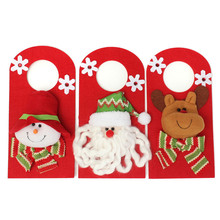 Newest Arrival Christmas Decoration Santa Snowman Elk Hanging Ornaments Home Door Christmas Decor