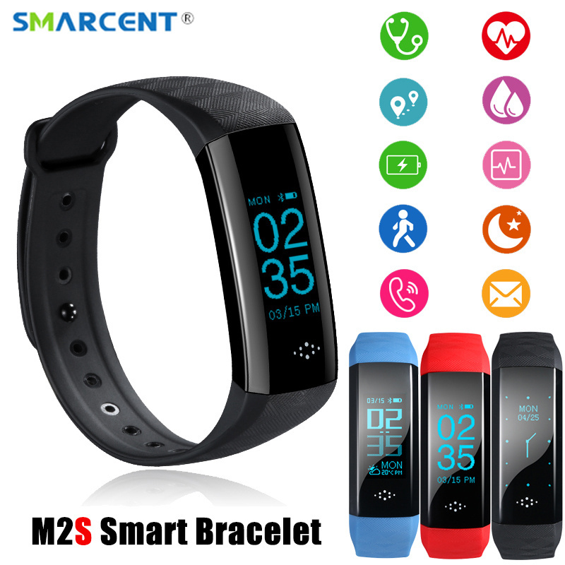 SMARCENT M2S Smart Band M2 Pro Heart Rate Blood Pressure Monitor Pedometer Smartband Weather forecast Fitness